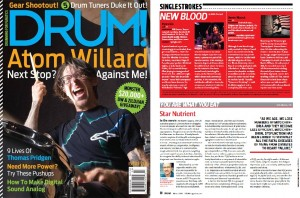 "March 2014 DRUM! Magazine - Featured ""New Blood"" Artist RYAN GIO"