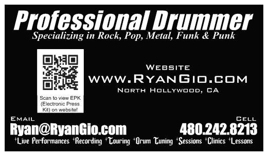 Ryan Gio BUSINESS CARD (Back)