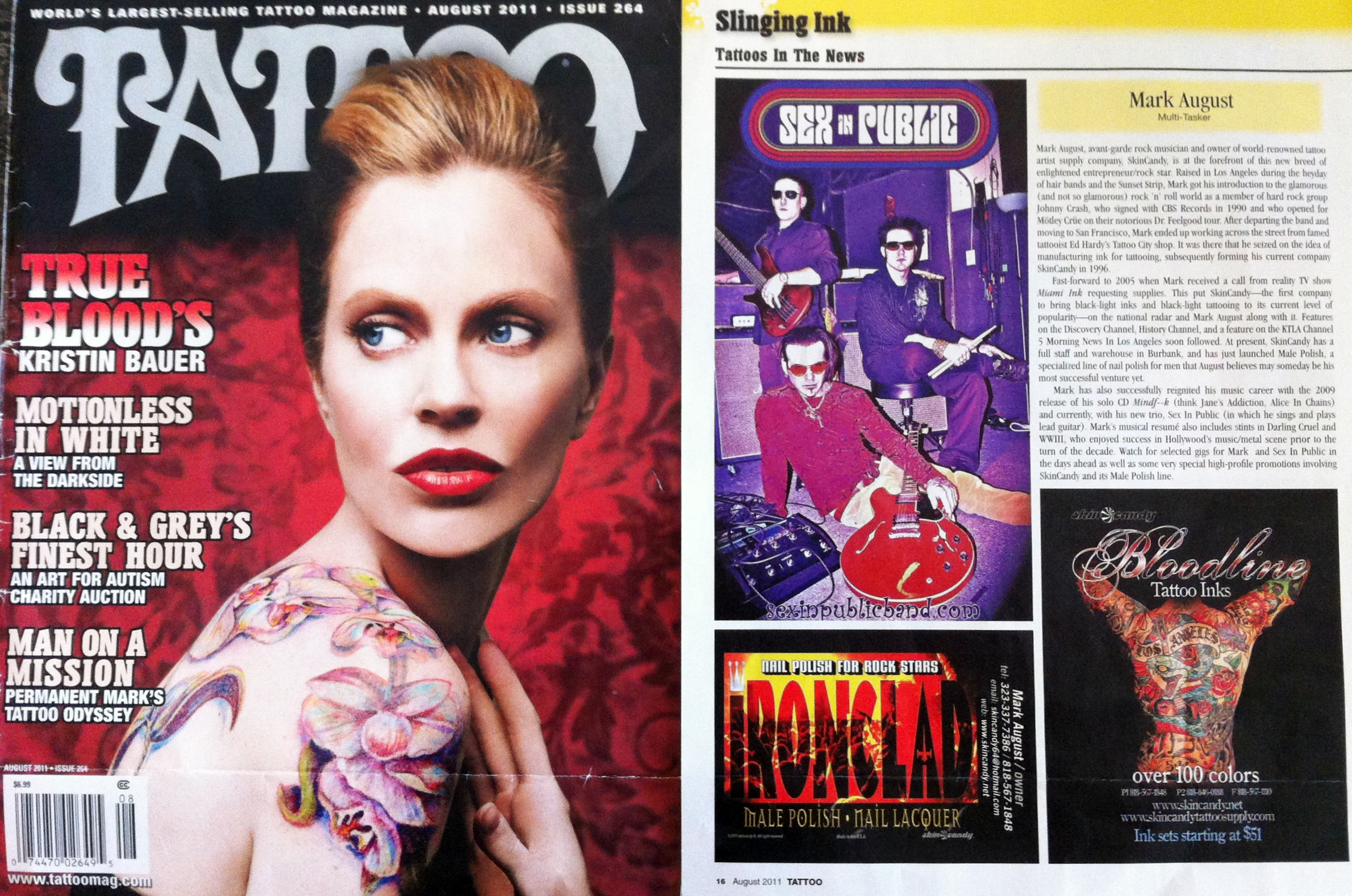 August 2011 Tattoo Magazine - SEX IN PUBLIC