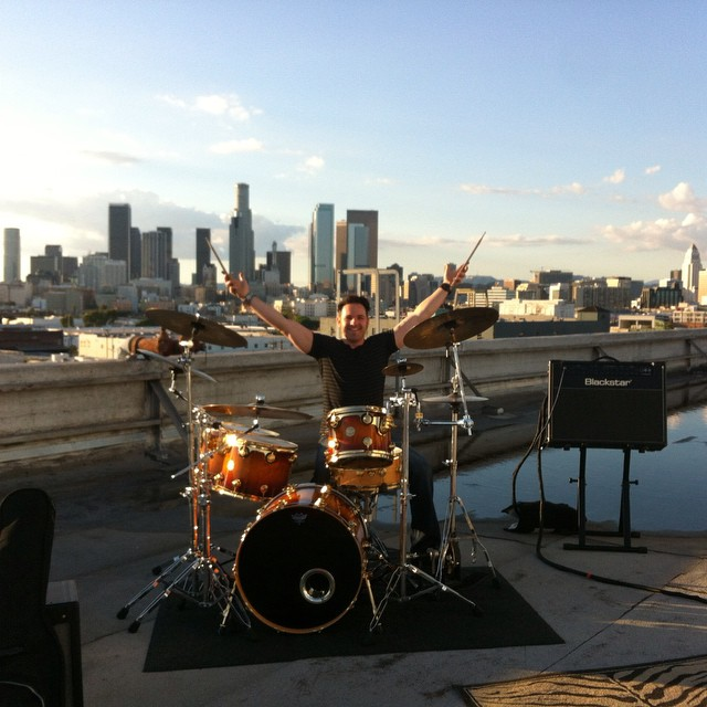 Los Angeles Rooftop Music Video Shoot